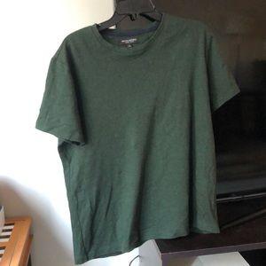 Banana Republic Luxury Touch Soft Deep Green Shirt